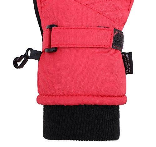 guantes andorra kids' zippered pocket ski & snowboarding glo