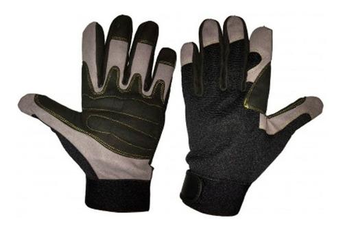 guantes anti vibracion gris / negro