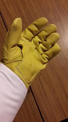 guantes apicultor de 1ra cuero flor talles varios x3 pares