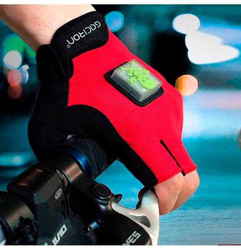 guantes bicicleta señalizador led salva vida/ hb importacion