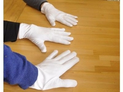 guantes  blancos 100% algodon