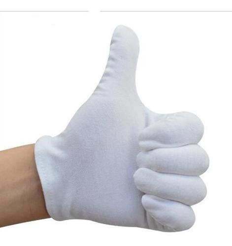 guantes blancos de algodon para escolta/militar/meseros
