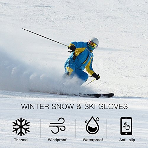 guantes blufied outdoors snow ski gloves thermal  buho store