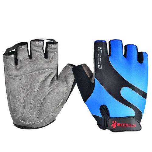 guantes boodun ciclismo bicicleta deportivos azul negro m