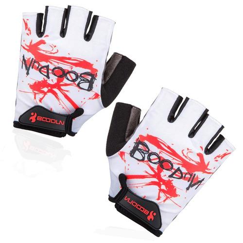 guantes boodun ciclismo bicicleta deportivos blanco rojo xl