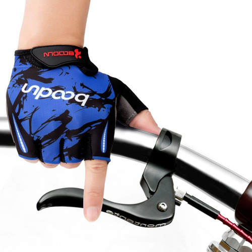 guantes boodun ciclismo bicicleta deportivos negro azul l