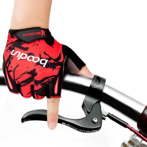 guantes boodun ciclismo bicicleta deportivos negro rojo xl