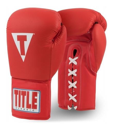 guantes box title classic piel agujeta 14 16 y 18 fpx