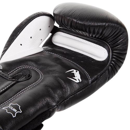 guantes box venum giant 3.0 negro/blanco piel 14 onzas