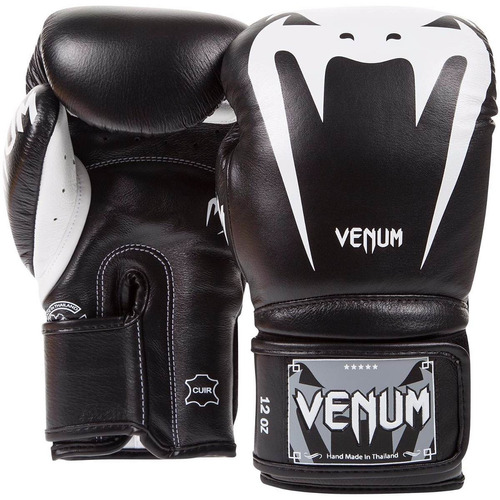 guantes box venum giant 3.0 negro/blanco piel 16 onzas