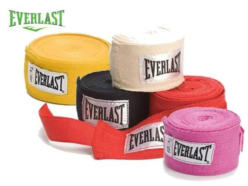 guantes boxeo everlas + vendas + protector bucal everlast