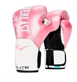 Guantes Boxeo Everlast Elite Mujer Dama Rosa Kick Boxing