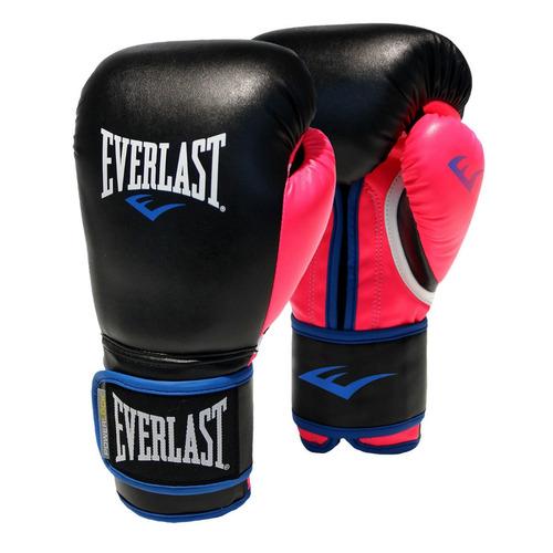 guantes boxeo kick boxing everlast powerlock 12 14oz blancos
