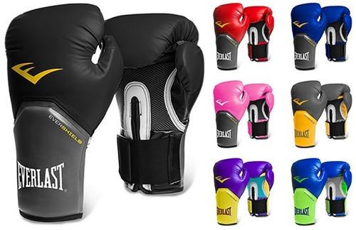 guantes boxeo pro style elite everlast + vendas + bucal