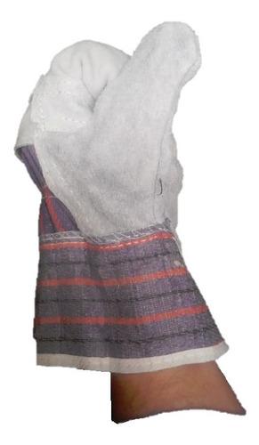 guantes carnaza 6 pares en tela  t-10