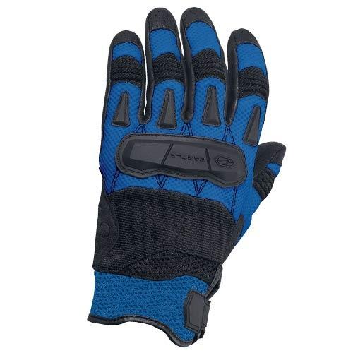 guantes castle streetwear blast c/flujo de aire azul lg