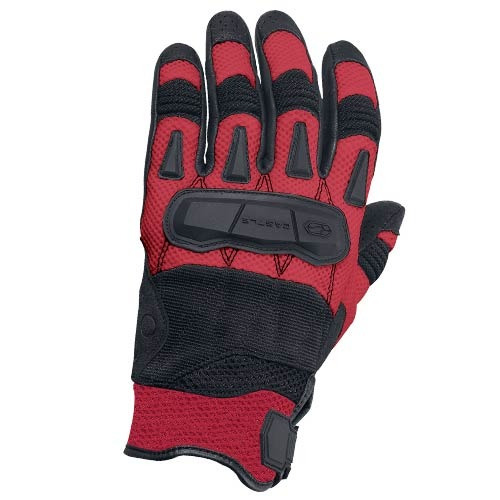 guantes castle streetwear blast c/flujo de aire rojo sm