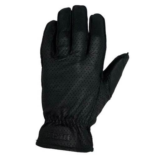 guantes castle streetwear cuero perforado estándar negro 2xl