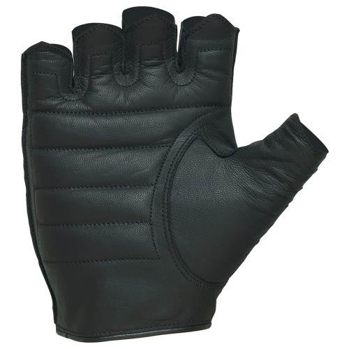 guantes castle streetwear sin dedos de cuero negro xs