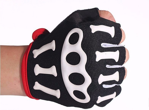 guantes ciclismo bicicleta mtb fitness skeleton antideslizan