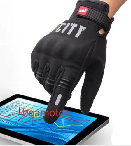 guantes city mandbiker neoprene c/ protección en nudillos mo