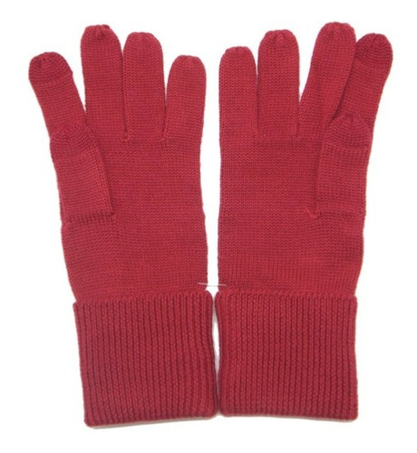 guantes coach embossed signature knit touch
