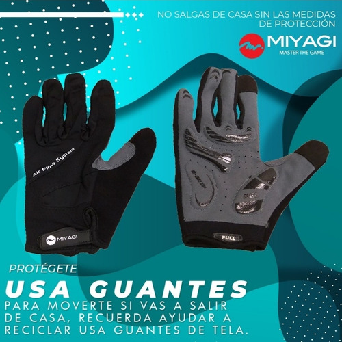 guantes completos lavables con dedos touch screen miyagi