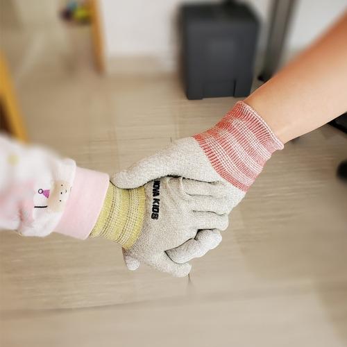 guantes con cobre antibacterial para niños comodo reusable