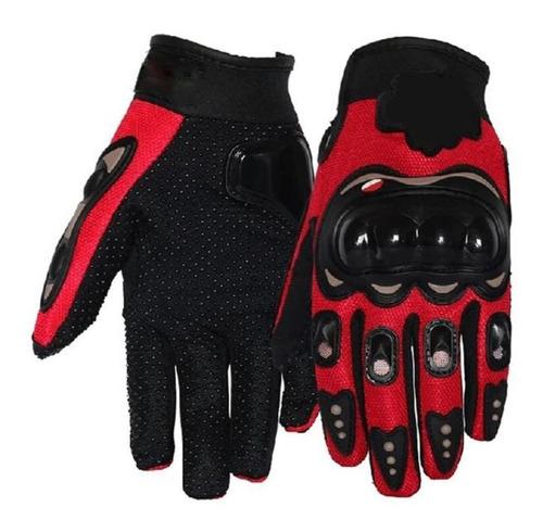 guantes con proteccion motociclista anti derrape con pads