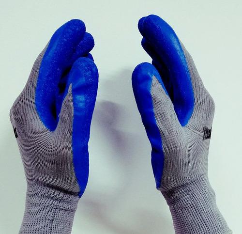 guantes con recubrimiento de latex marca majesta