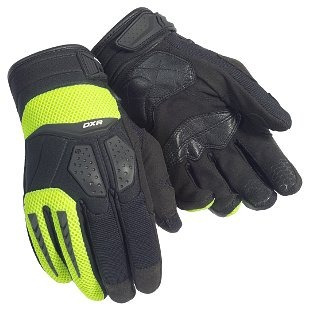 guantes cortech dxr, negro, sm hola viz amarillo