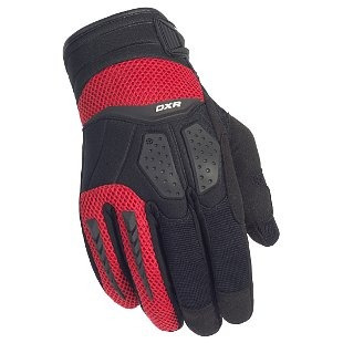 guantes cortech dxr, negro/rojo, sm