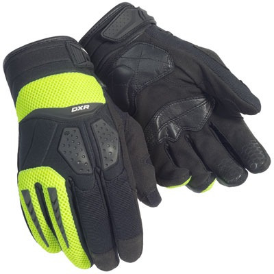 guantes cortech dxr para mujer negros/altamente visibles lg