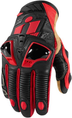 guantes cortos icon hypersport pro rojos md