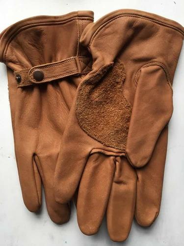 guantes cuero amarillo / camel