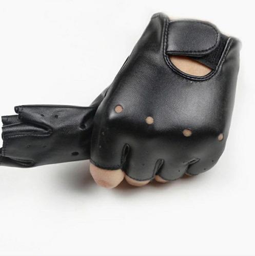 guantes cuero conducción niño niña dedos libres