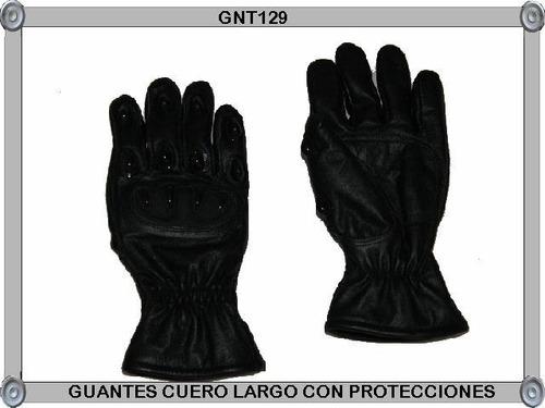 guantes cuero escalada c/protecciones
