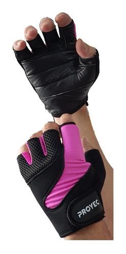 guantes cuero gimnasio entrenamien pesas spinning funcional