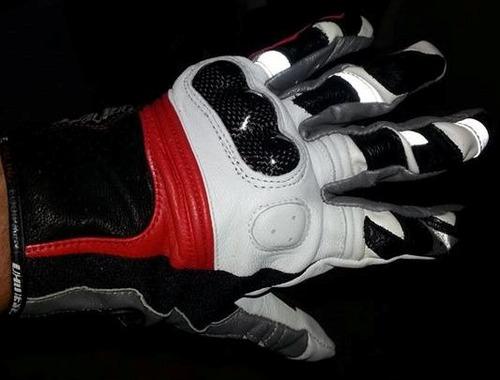guantes dainese race cuero protecciones de kevlar. un lujo!!