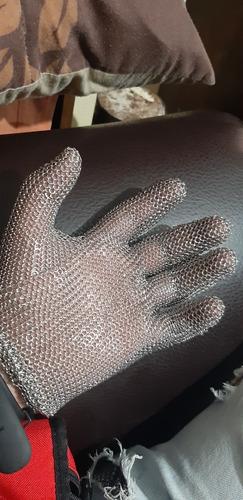guantes de acero para cocina
