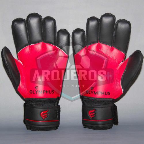 guantes de arquero/portero olymphus rio red con férulas