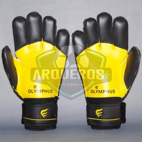 guantes de arquero/portero olymphus rio yellow con férulas
