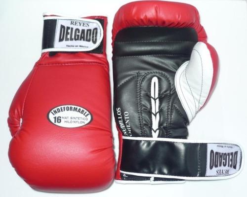 guantes de box indefomable marca reyes delgado 12 a 16 oz.