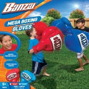 guantes de box inflable para niños set bubble