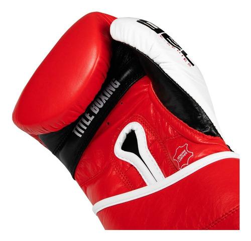 guantes de box title gel series piel 14,16 y 18 oz
