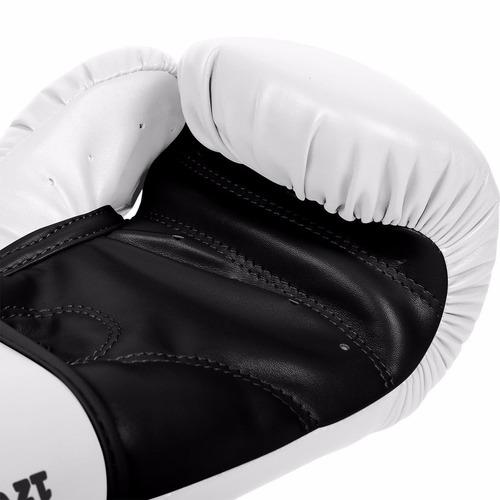 guantes de box venum contender piel sintetica blancos 10 oz