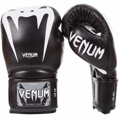 guantes de box venum giant 3.0 piel negro/blanco 10 oz