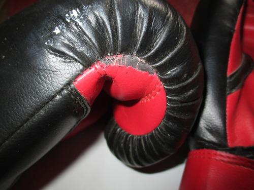 guantes de boxeo 16 oz con detalles nada graves