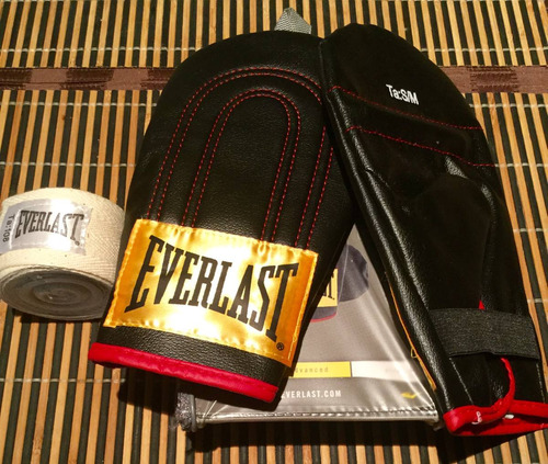 guantes de boxeo everlast advanced kit importados