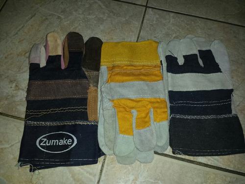 guantes de carnaza sencillos